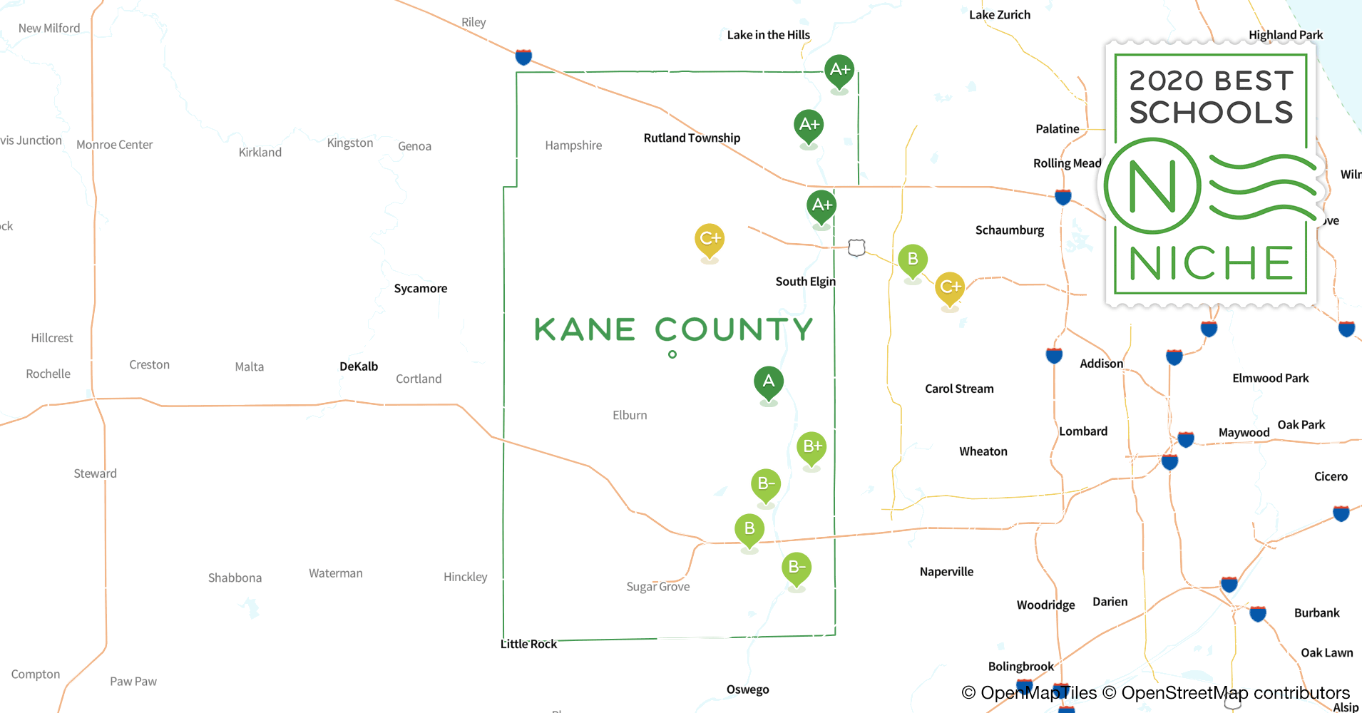 Districts in Kane County, IL - Niche on wayne county district map, dekalb county district map, bexar county district map, will county district map, la crosse county district map, henry county district map, christian county district map, kankakee county district map, dane county district map, knox county district map, ozaukee county district map, kitsap county district map, richland county district map, kern county district map, carroll county district map, effingham county district map, sangamon county district map, brazoria county district map, fulton county district map, williamson county district map,