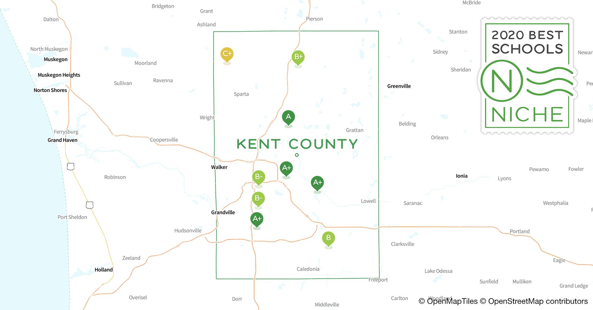 Charter s in Kent County, MI - Niche on katy isd map, edgewood isd map, princeton isd map, frisco isd map, waco isd map, dickinson isd map, farmersville isd map, midlothian isd map,