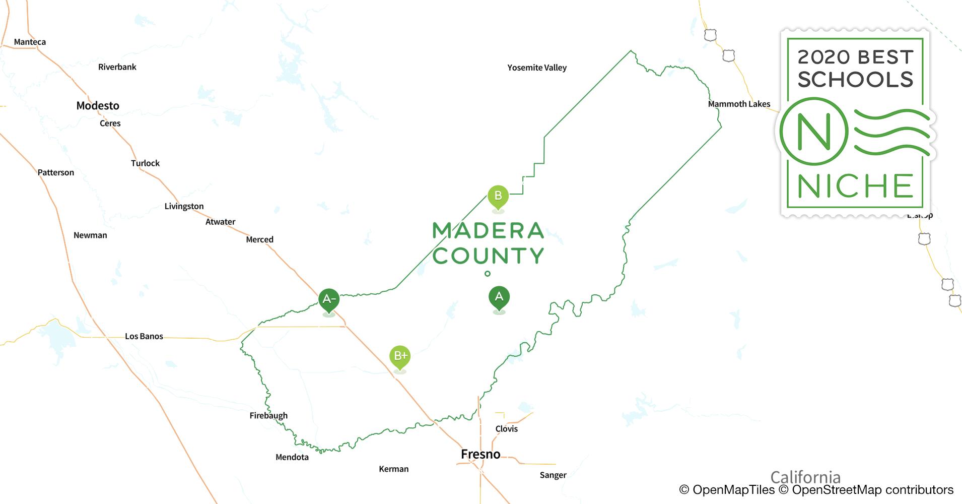 Madera County California Map