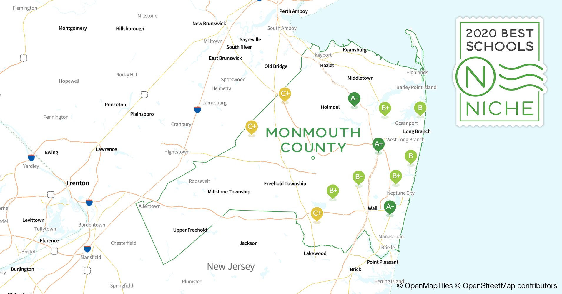 school districts in monmouth county  nj
