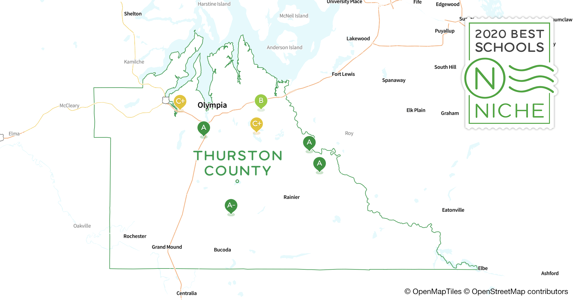 2020 Best Public Elementary Schools in Thurston County, WA