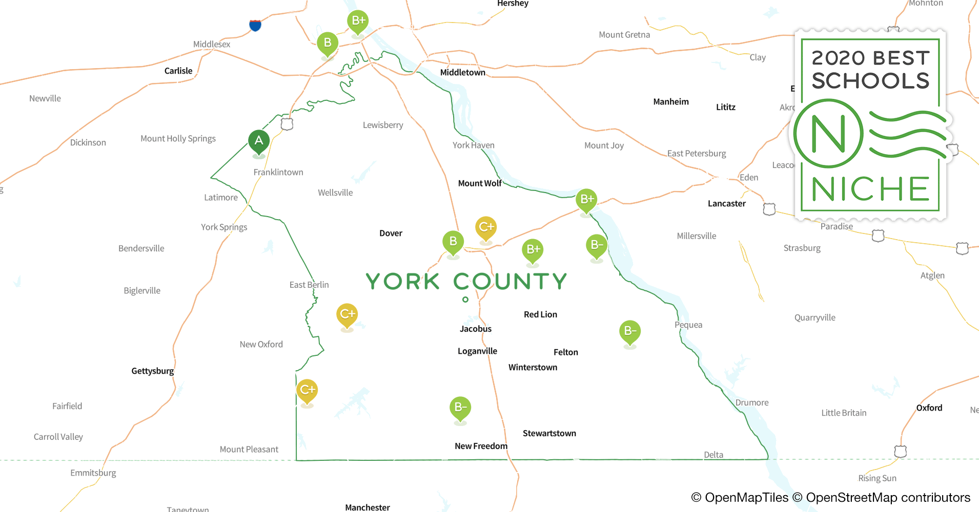 2020 Best High s in York County, PA - Niche York County Pa Map Of Lakes on map of chester county pa, map of douglas county or, map of york city pa, map of pennsylvania, map of warren county pa, map of baltimore county pa, map of potter county pa, map of franklin county pa, map of york college pa, map of grafton, il, map of cumberland county pa, cities in lebanon county pa, map of san diego county ca, map of new castle county de, map of york county nc, events of york county pa, map of adams county pa, map of mckean county pa, map of york county ne, map of erie county pa,