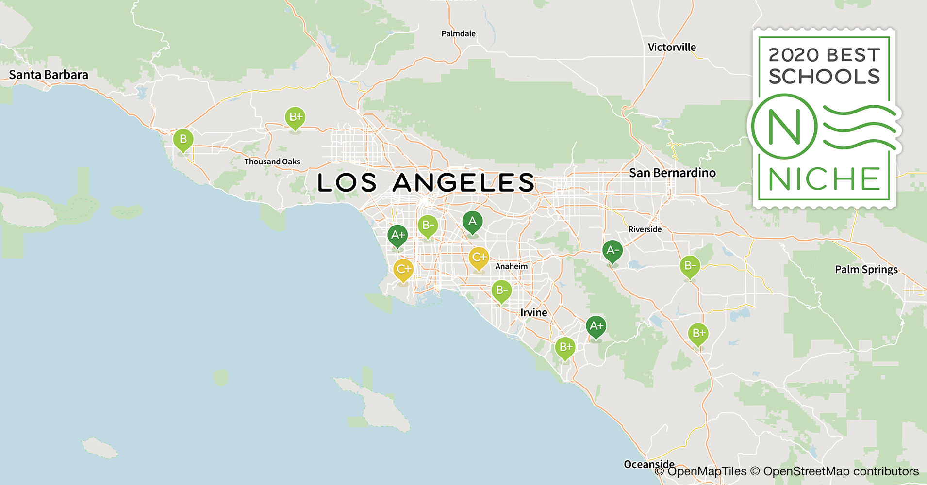 2020 Best Public High s in the Los Angeles Area - Niche Map Granada Hills Ca on van nuys ca map, san fernando ca map, la tuna canyon ca map, united states ca map, conejo valley ca map, santa clarita ca map, lake forest ca map, cardiff by the sea ca map, downey ca map, east la ca map, la conchita ca map, arrowbear ca map, puente hills ca map, verdugo hills ca map, hammil valley ca map, goffs ca map, feather falls ca map, north hills ca map, 91354 zip code map, whitethorn ca map,