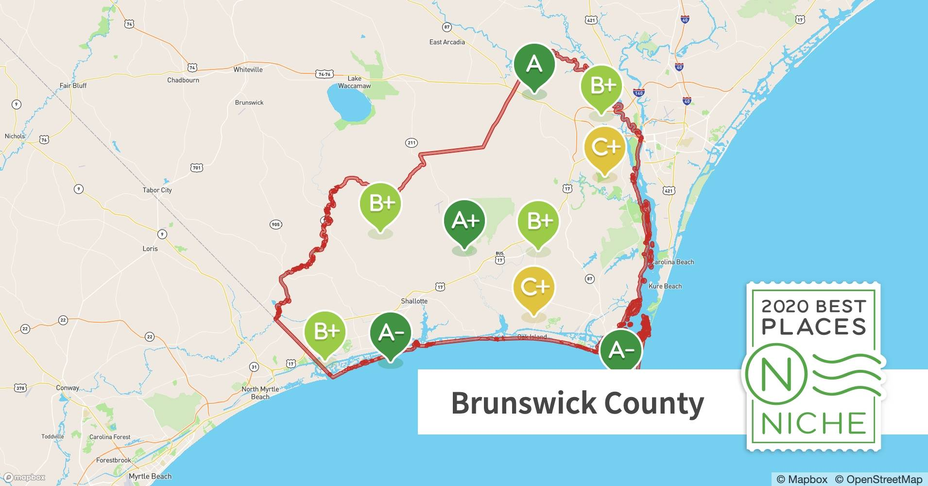 2020 Safe Places to Live in Brunswick County, NC - Niche