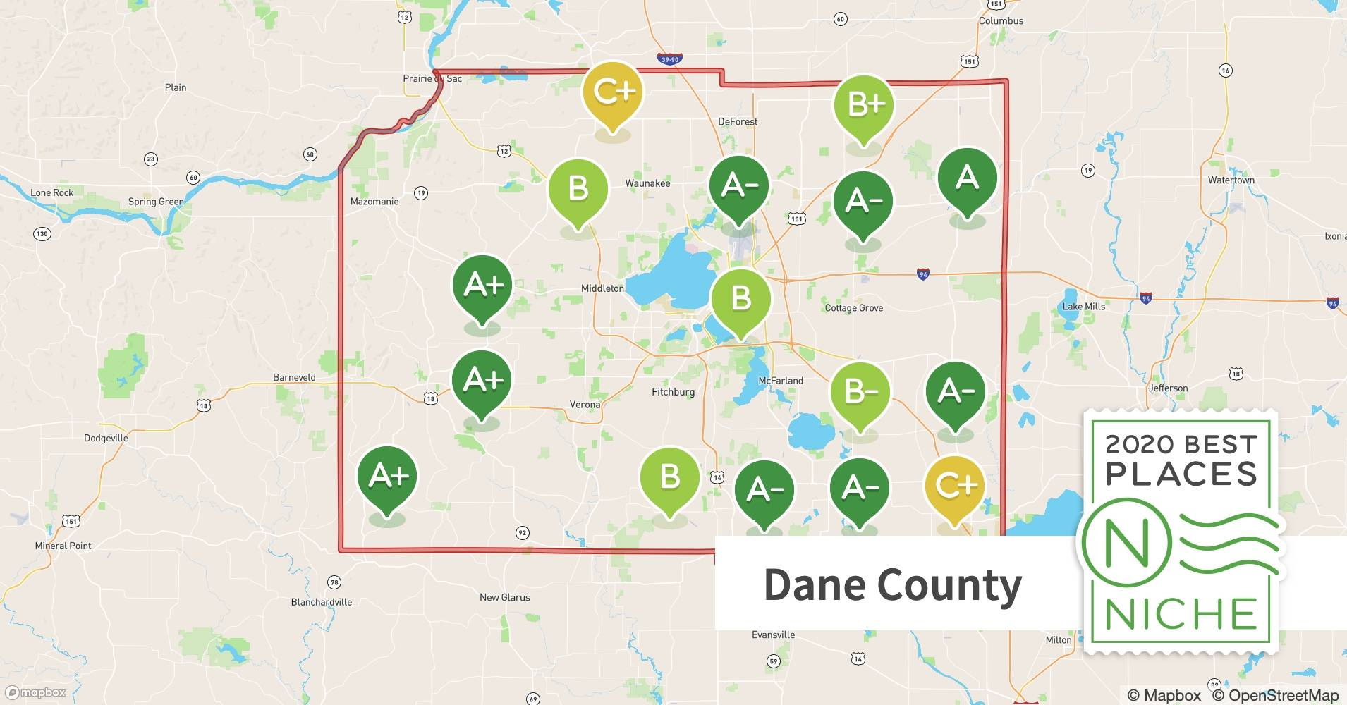 2020 Best Places To Retire In Dane County Wi Niche
