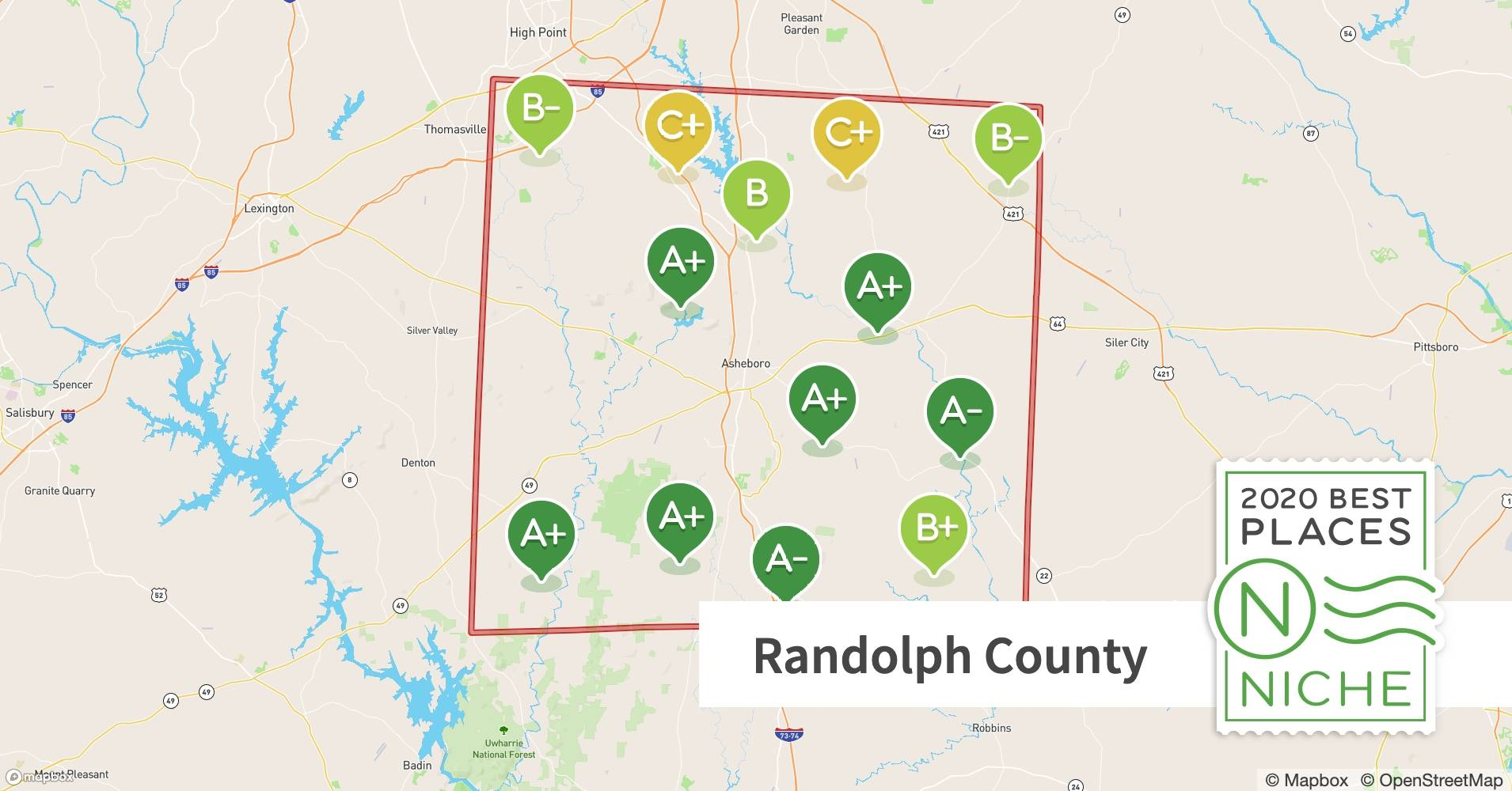 Map Of 2020 Randolph County Christmas Tour Of Homes 2020 Best Places to Live in Randolph County, NC   Niche