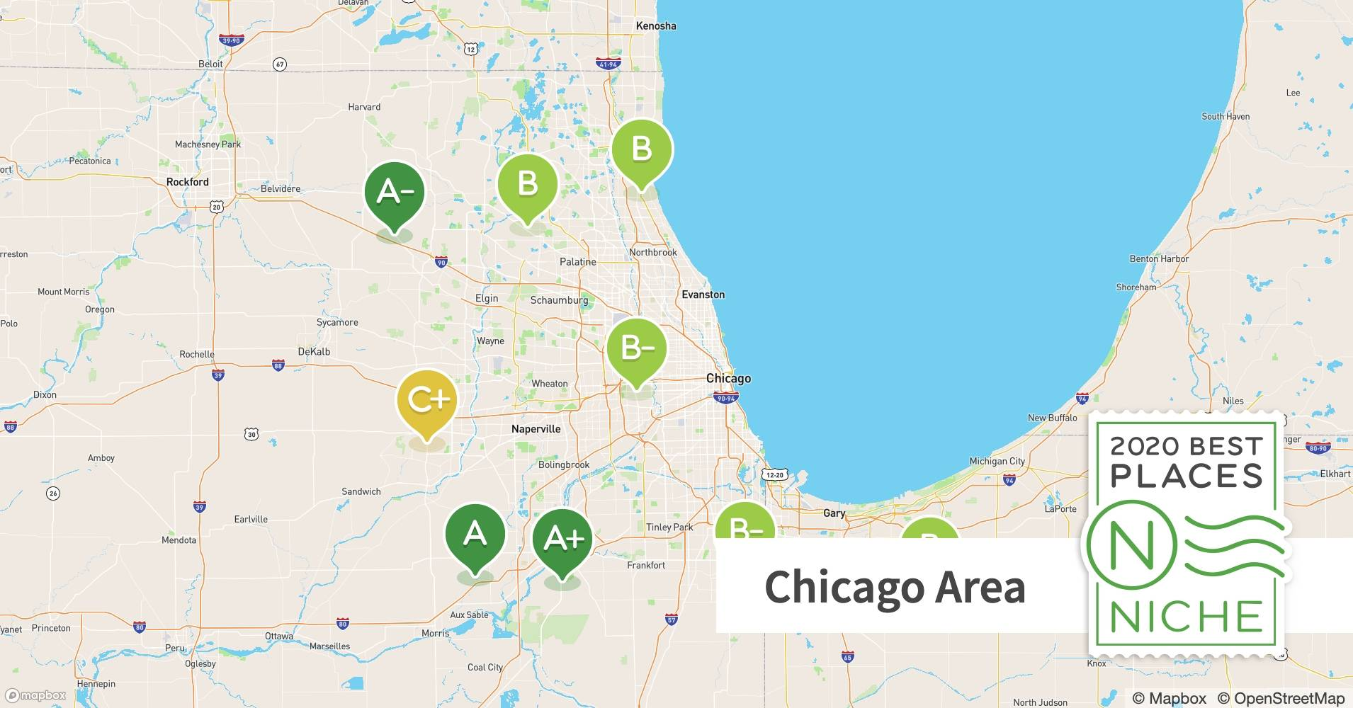 Areas To Avoid In Chicago Map 2020 2020 Best Chicago Area Suburbs to Live   Niche