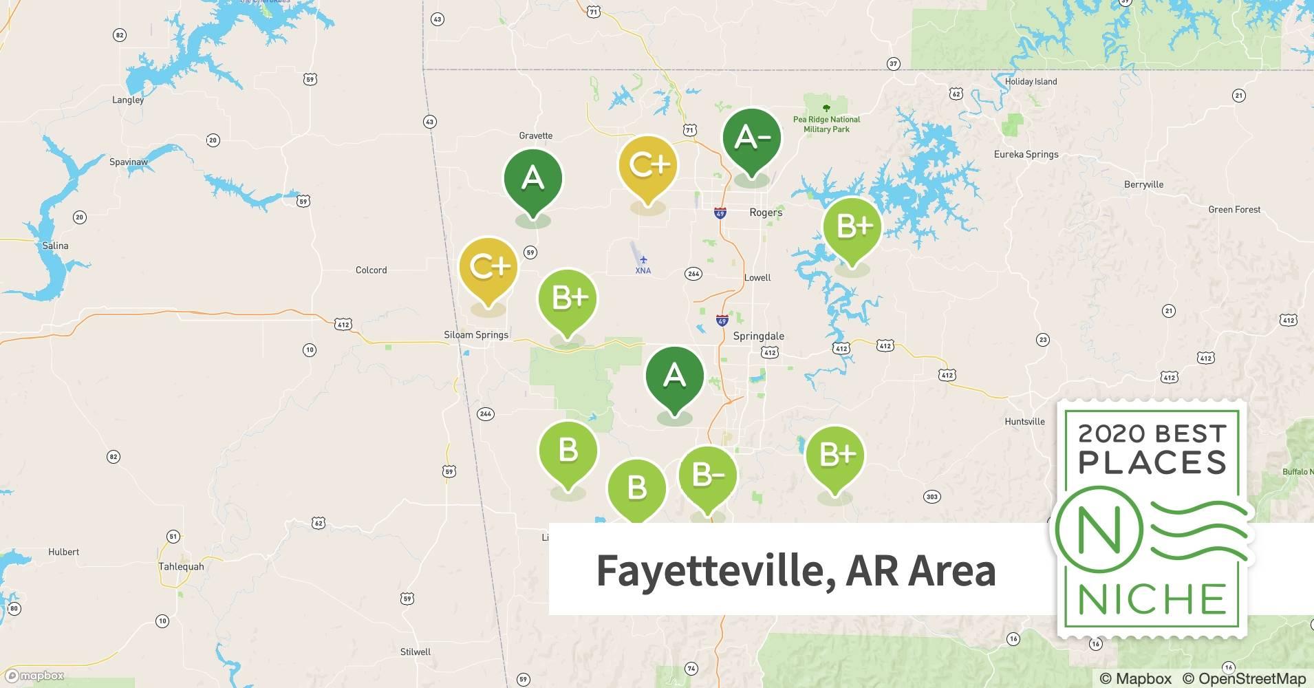 2020 Best Zip Codes Near Fayetteville Ar Area Niche