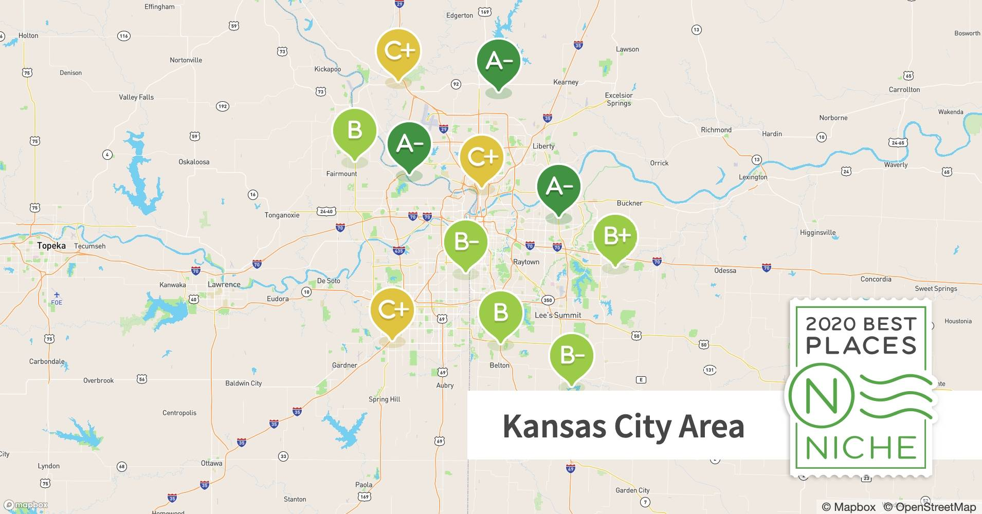 map of kansas city suburbs 2020 Best Kansas City Area Suburbs For Families Niche map of kansas city suburbs