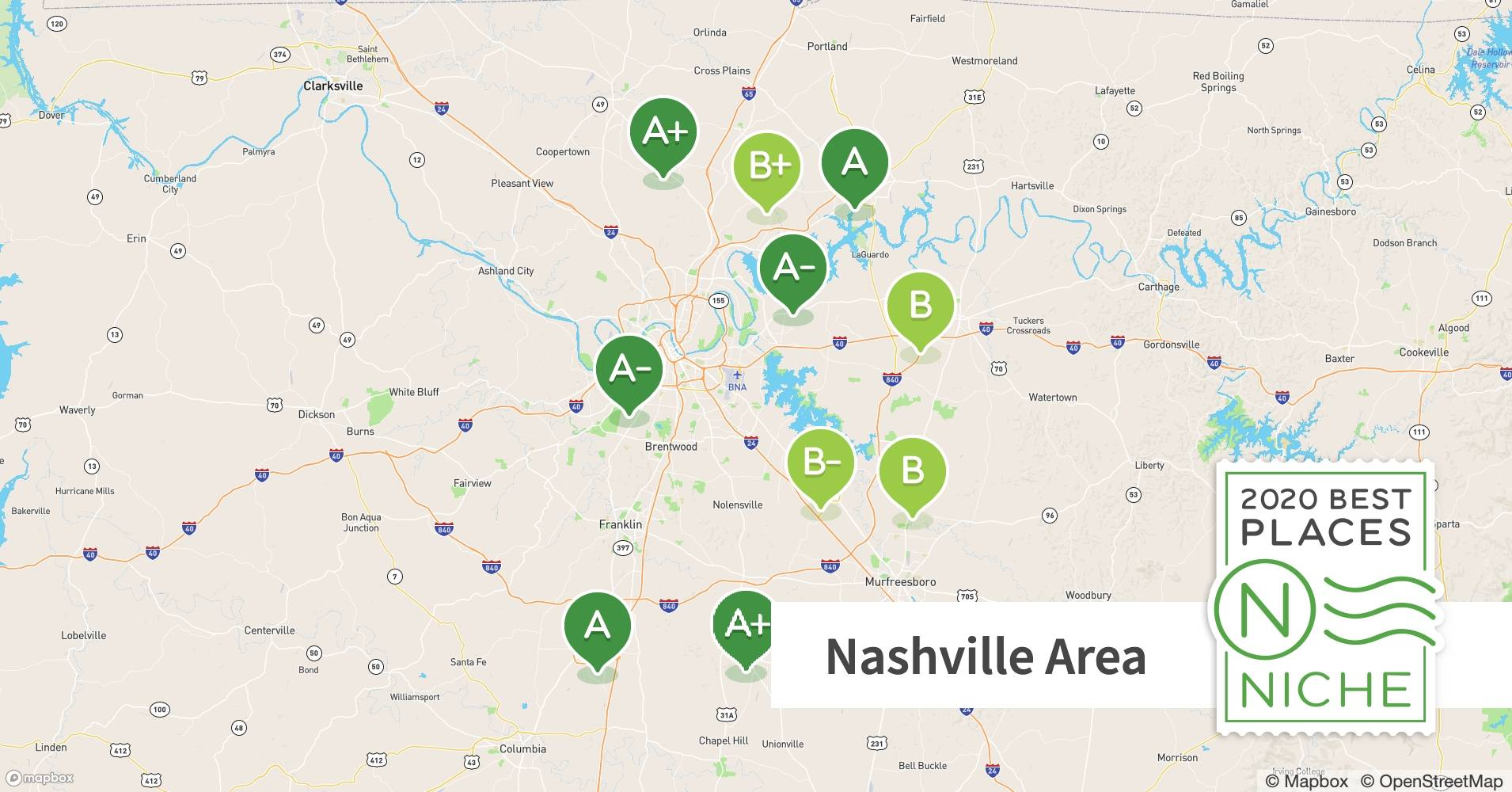 Picture of: 2020 Best Places To Live In The Nashville Area Niche