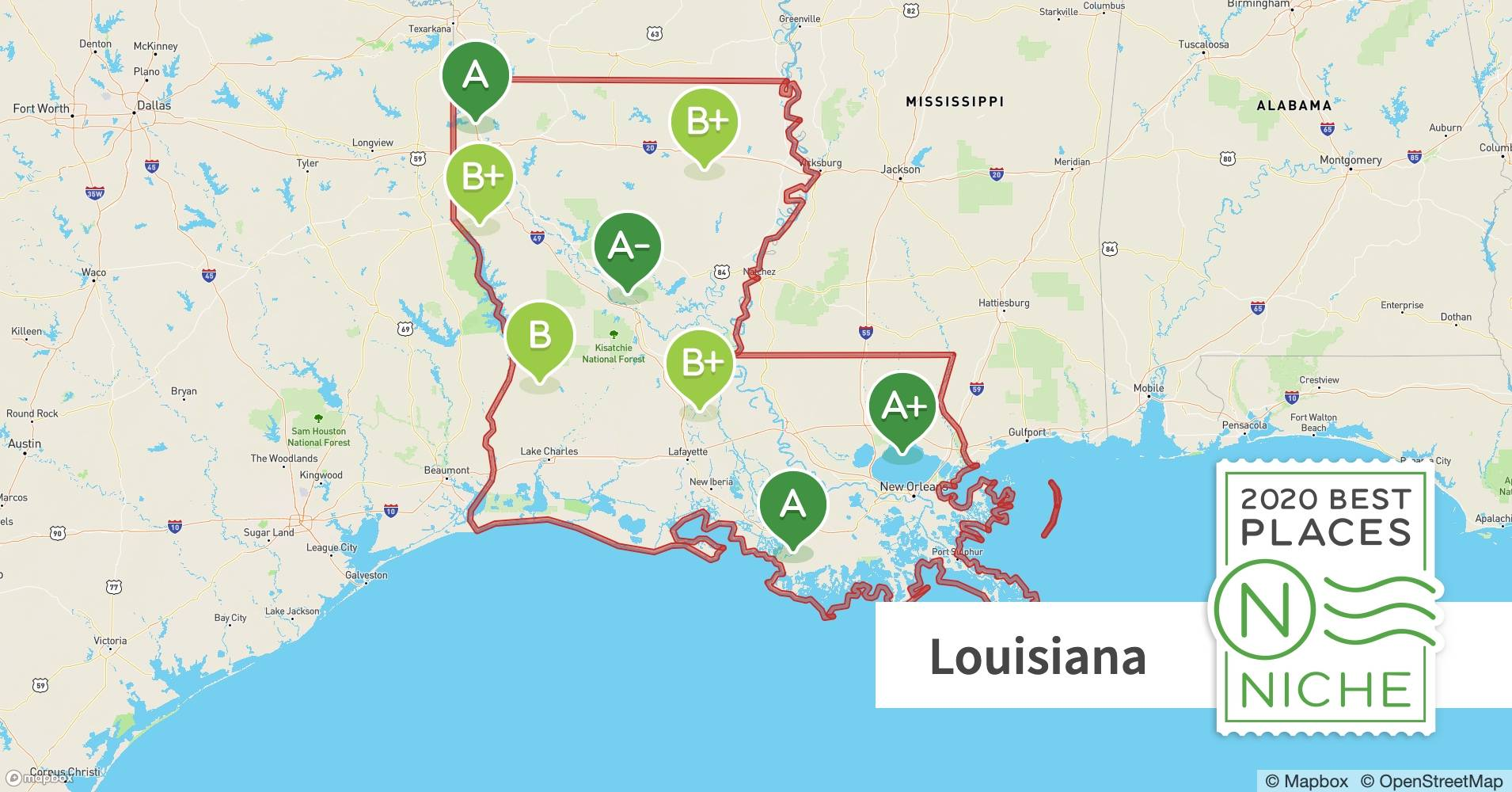 2020 Best Places To Raise A Family In Louisiana Niche