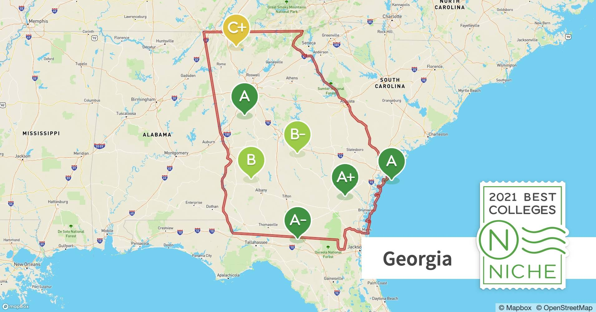 Colleges In Georgia Map 2021 Best Colleges in Georgia   Niche