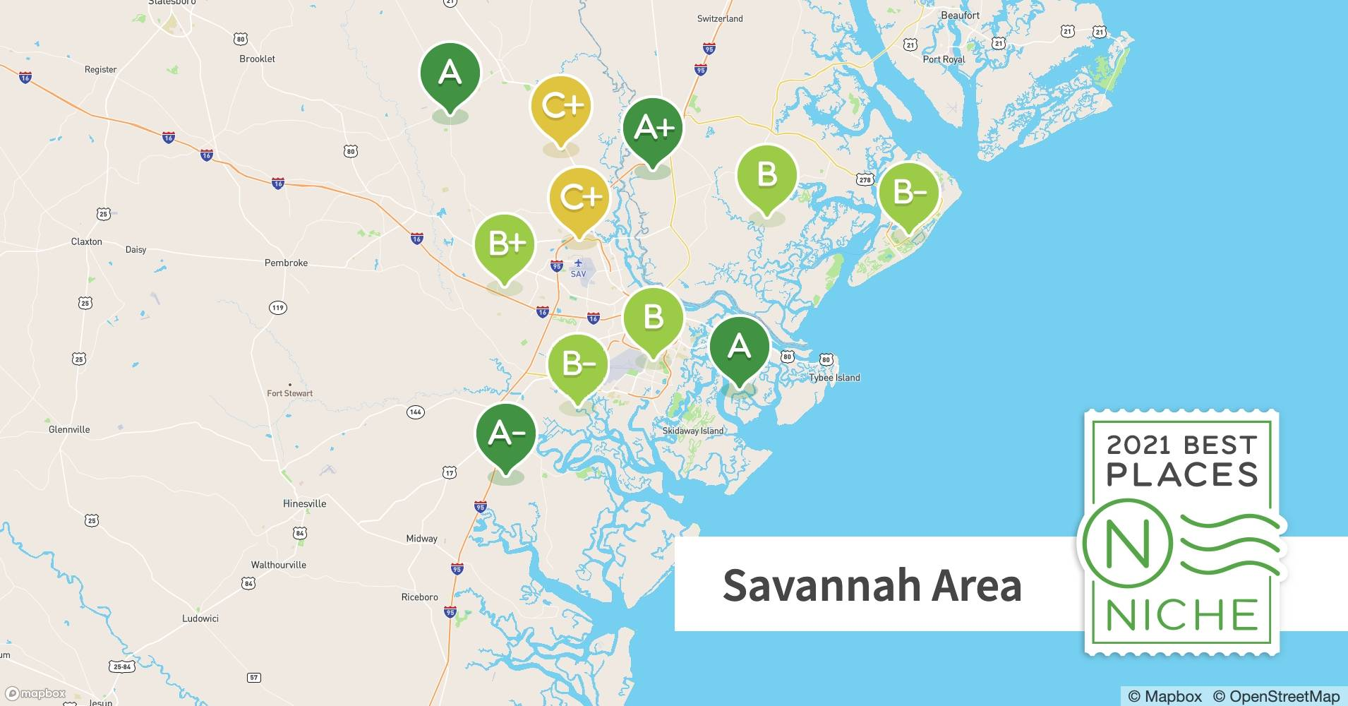 2021 Best Places To Raise A Family In Savannah Area Niche