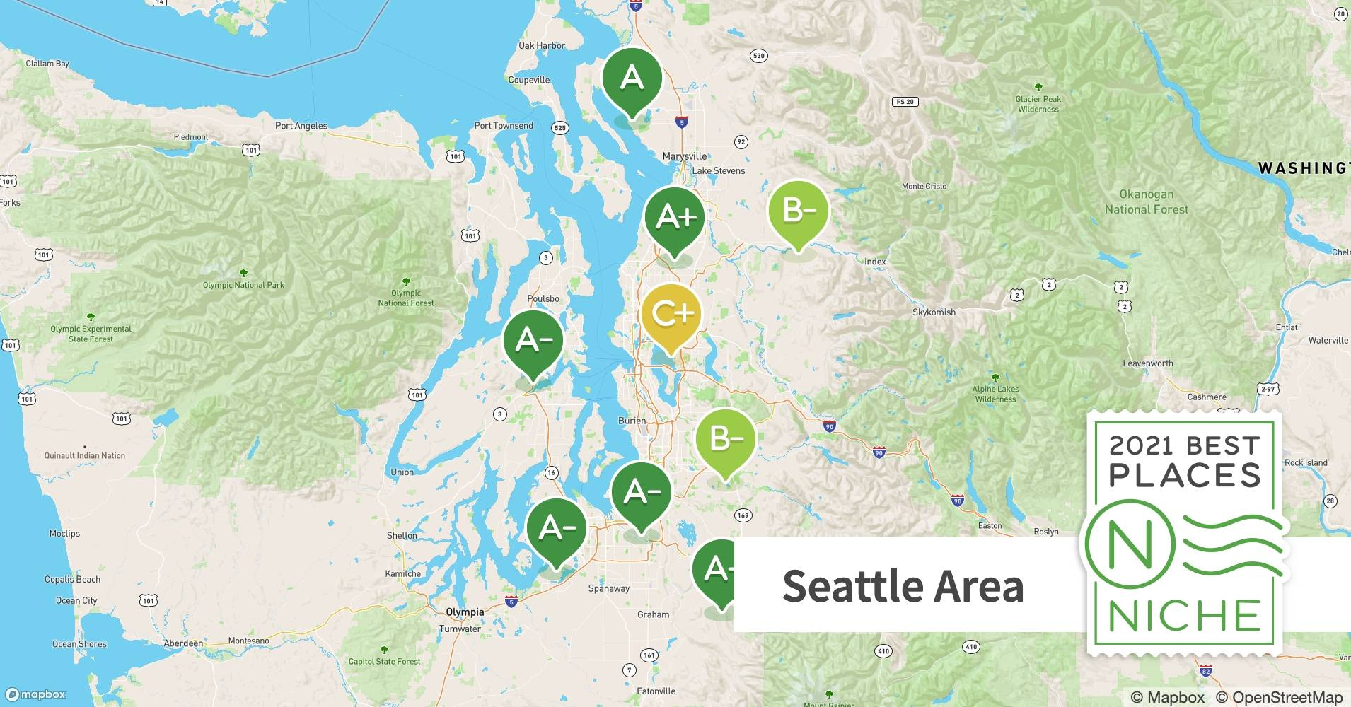2021 Best Seattle Area Suburbs To Live Niche